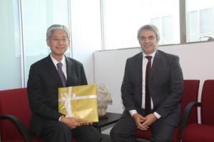2014年当時リオデジャネイロ総領事の高瀬様とブランデリ氏